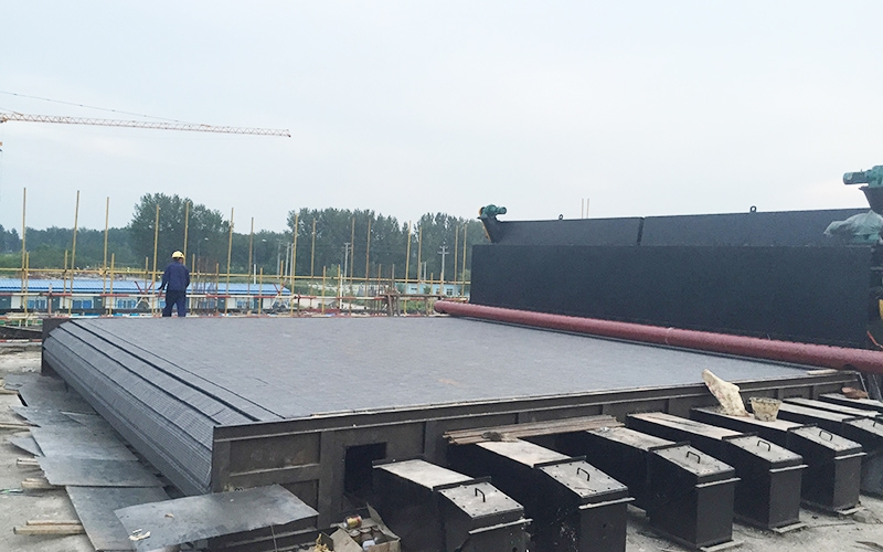 Installation site of 4 sets of 100t crossbeams of Liaoning Lvhuan Liaozhong heat source Co., Ltd