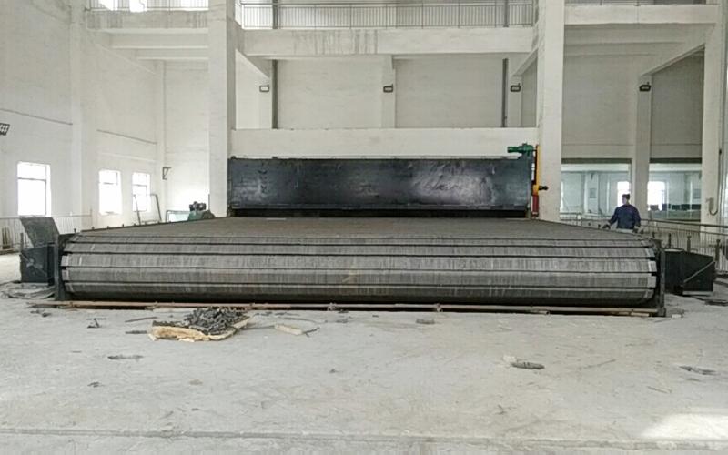 Installation site of 100 ton crossbeam grate in Qingdao Antai